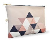 "Artist Designed Clutch Bag/Purse/Wristlet by Create&Case ""Graphic 202"" stylish, colourful, chic vegan leather bag geometric"