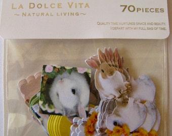 "CLEARANCE La Dolce Vita ""Bunnies"" sticker set of 70"