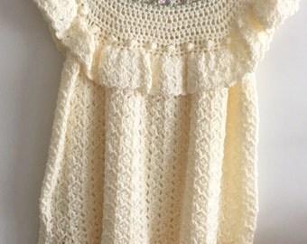 Girls hand crochet dress size6/7.
