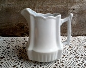 IRONSTONE PITCHER, Royal Ironstone China, Johnson Brothers, Stoneware, Farmhouse, Antique, Pottery, Earthenware, Serving Pitcher, Creamer