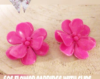 Chunky pink earrings
