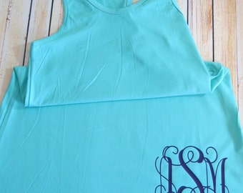 Youth Swimsuit Cover Up - Monogram - racerback
