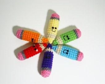 Kawaii Colored Pencil Amigurumi Quirky Collection Amigurumi