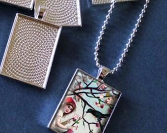 Rectangle Photo Necklace