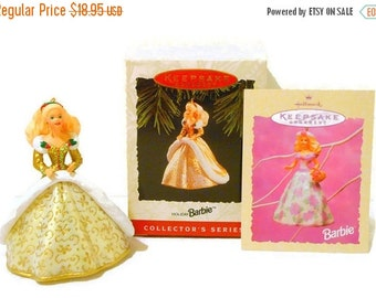 ON SALE Vintage Holiday Barbie Hallmark Keepsake Ornament 2nd in Series 1994 by LootByLouise