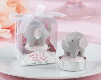 24 -  Little Peanut Elephant-Shaped Candles