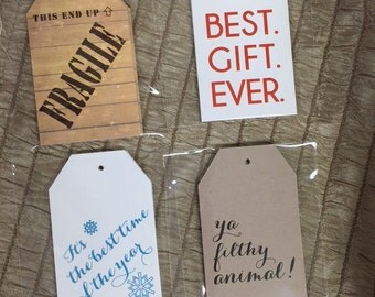 Christmas Gift Tags: funny, movie quote christmas tags