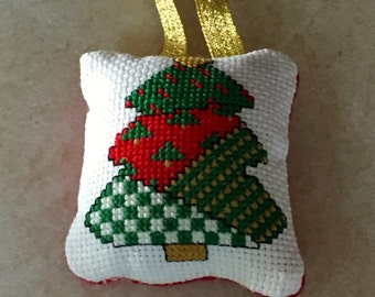 Patchwork Christmas Tree Ornament