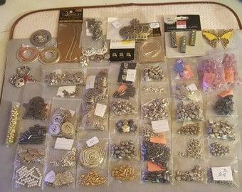 Mixed Metal Destash, Beads, Charms, Pendants 75+ Dollars worth of Materials