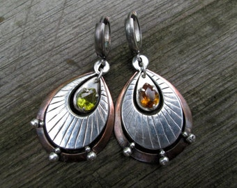Sphene Sterling Silver Earrings
