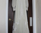 Vintage  Full Length Wedding Gown needs repairs
