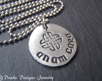 anam cara necklace Irish jewelry Celtic necklace best friend gift