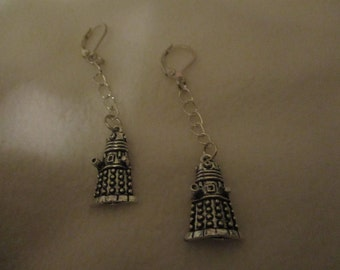 Doctor Who inspired Dalek earrings (with chain)