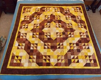 Cabin Lights: Large Wall Quilt, Throw or Topper