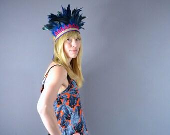 Royal - Handmade Feather Crown