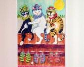 THREE LITTLE KITTENS - Print From Original Art