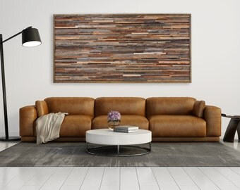 Reclaimed wood wall art, made of old barnwood, Different Sizes Available, large art.