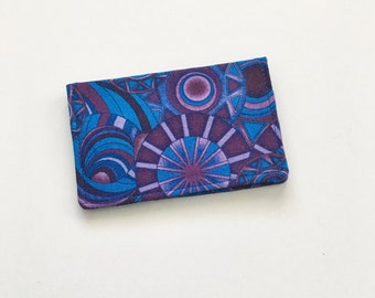 Geometric Business Card Holder, Purple Business Card Card Holder, Business Card Case, Credit Card Holder, ID Holder, Gift Card Holder
