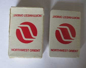 Vintage Northwest Orient Airlines Playing Cards