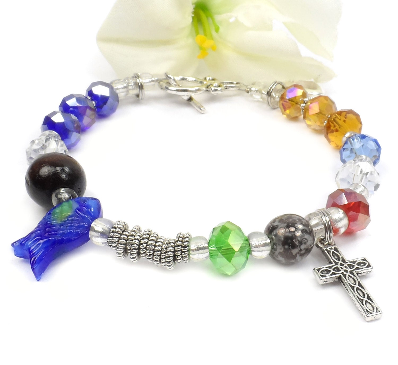 Christian Charm Bracelets: Story Of Christ Bracelet Christian Jewelry Religious