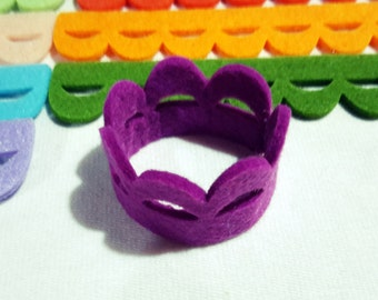 Thick Felt Napkin Ring - DIY - 12 Pieces  - Felt Die Cut Napkin Ring - DIY