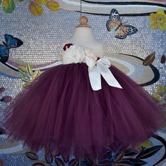 Wine and beige girls tulle flower girl dress burgundy girls - The splendid transformation of a vineyard in burgundy ...