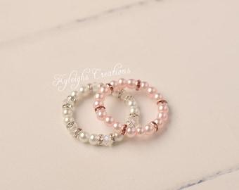 0-3 month bracelet set, twin girl bracelets, twin jewelry