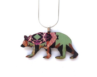 Bear Necklace - Bear Jewellery - Bear Pendant - Animal Necklace - Gift For Girls - Gift For Animal Lover - Cute Necklace -  Bear Gift