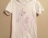 Size- Extra Large. Red string of fate tshirt.