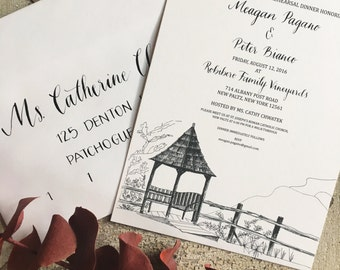 Rehearsal Dinner Invitation/Wedding Invitation