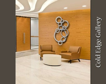Unchained Halo's - Small, Extra Large Wall Art, Office, Wall Art, Abstract, Corporate, Brushed Aluminum, Contemporary, Cold Edge Gallery