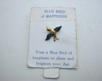 Blue Bird of Happiness Lapel Pin