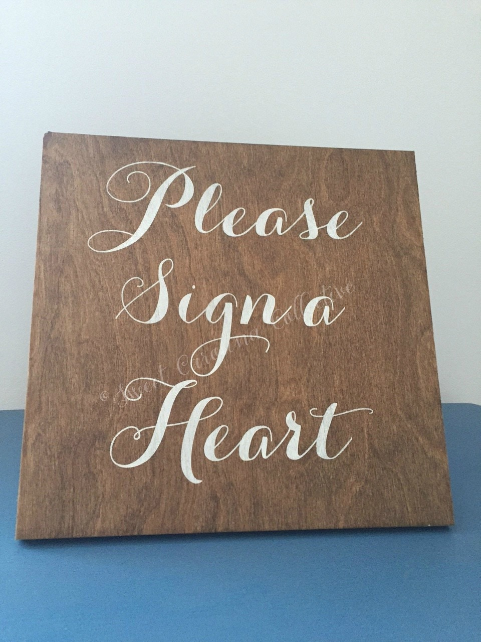 alternative guestbook please sign a heart guestbook sign