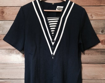 Retro Nautical Sailor Top