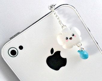 ON SALE Kawaii Cloud Dust Plug, For iPhone or iPod, Cute :D