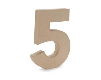 paper mache cardboard 12 inch number 5 numbers five paper craft party decor supplies