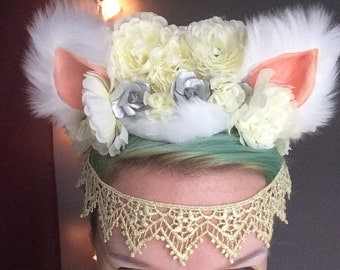 White Cat Headpiece
