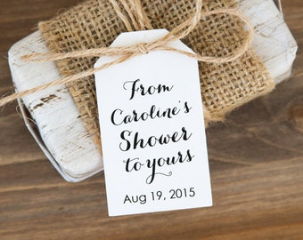 Bridal Shower Tags - Bridal Shower Favors - Soap Favor - Bath Bomb Favor - Bath Favor - Bridal Shower Favor Ideas - MEDIUM
