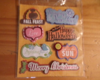HOLIDAY SCRAPBOOK Embellisments