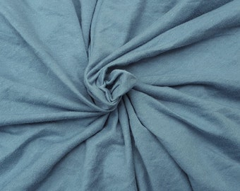 "Slate Blue Bamboo Cotton Fabric Jersey Knit by the Yard 72""W 5/16"