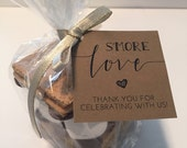 S'more Love Favor Tags Printable // S'mores Favor Kits // Smore Love Wedding Favor Tags // Instant Download
