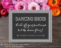 Flip Flop Basket Sign for Weddings // Wedding Flip Flop Basket Sign // Instant Download PDF