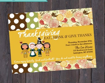 Thanksgiving Invitation Printable // Give Thanks Dinner