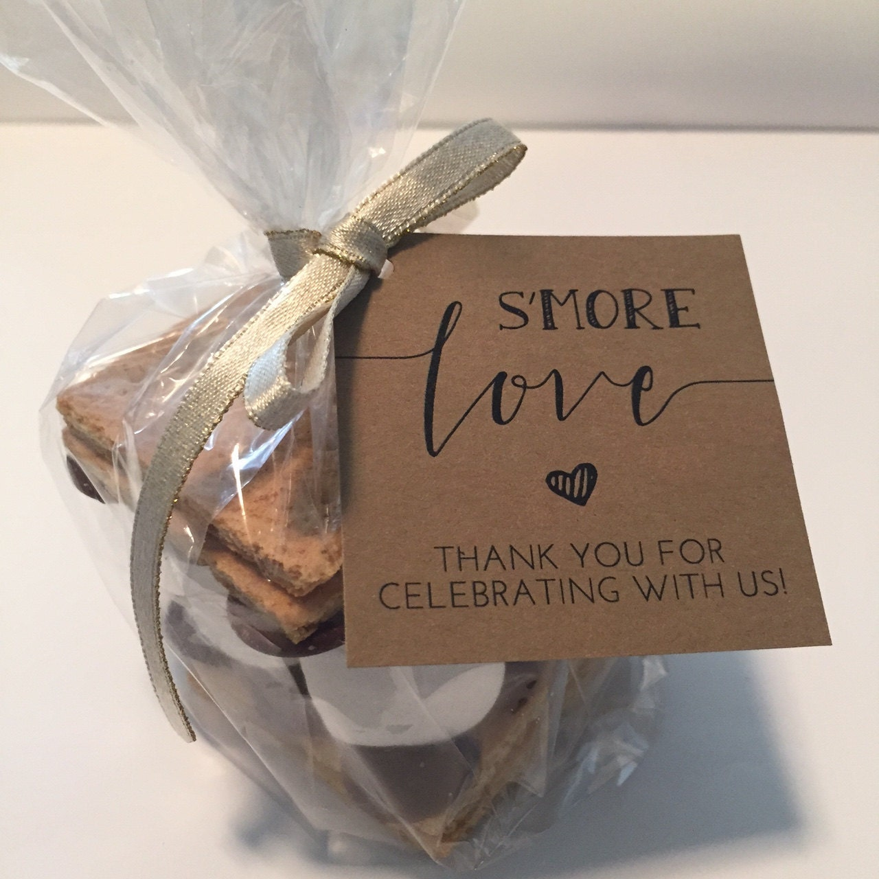 Wedding Favor Tag Kit : more Love Favor Tags Printable // Smores Favor Kits
