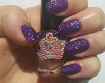 The Voidwalker by Polish Me, Royalty! 5-toxin free, 100% cruelty free, handmade purple holographic nail polish