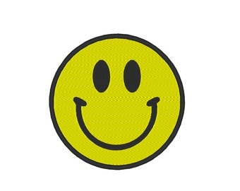 Happy Face Embroidery Machine Design