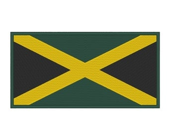 Jamaica Flag Embroidery Machine Design