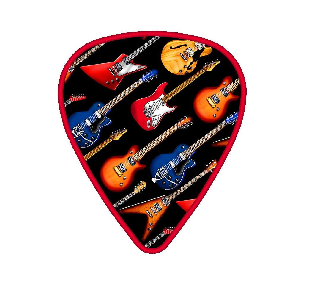 guitar pick applique embroidery machine design. Black Bedroom Furniture Sets. Home Design Ideas