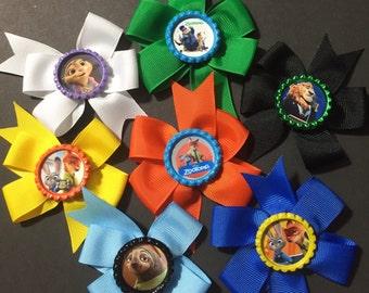 Zootopia Mini Pinwheel Hairbows