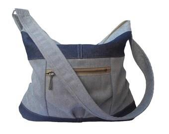 blue handbag / everyday bag / denim handbag